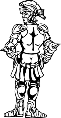 Knight in Shining Armour Mascot Decal / Sticker