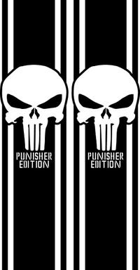 Punisher Edition Truck Bed Stripes Decals / Stickers 06