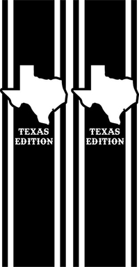 Texas Edition Truck Bed Stripes Decals / Stickers 08