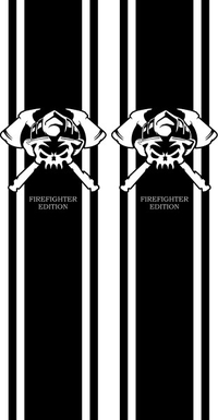 Firefighter Edition Truck Bed Stripes Decals / Stickers 10