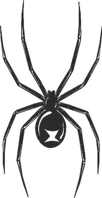 Black Widow Decal / Sticker 01