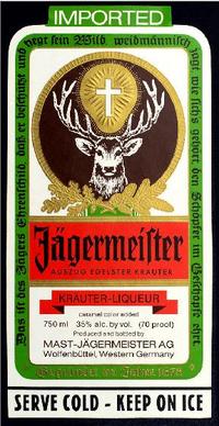 Jagermeister Label Decal / Sticker