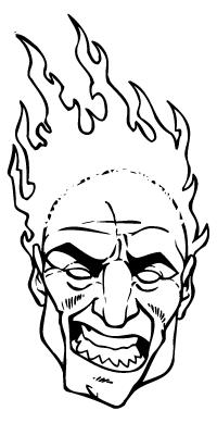 Heat Head Mascot Decal / Sticker