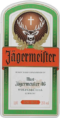 Jagermeister Label Decal / Sticker 04