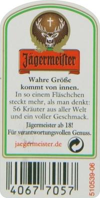 Jagermeister Label Decal / Sticker 11