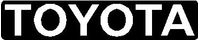 Boxed Toyota Lettering Decal / Sticker