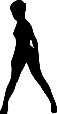 Sexy Girl Silhouette Decal / Sticker 04