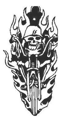 Flaming Chopper Skull Decal / Sticker