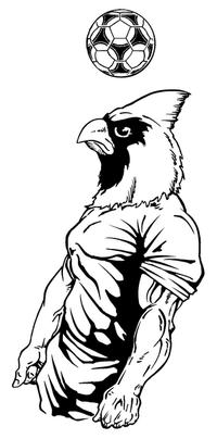 Soccer Cardinals Mascot Decal / Sticker 2