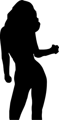 Sexy Girl Silhouette Decal / Sticker 05