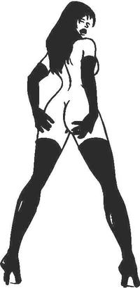 Sexy Girl Decal / Sticker 02