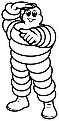 Michelin Man Decal / Sticker 21