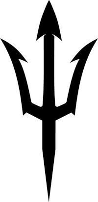 Trident Mascot Decal / Sticker 02