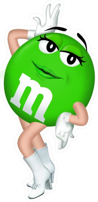 Green Female M&M Decal / Sticker 20