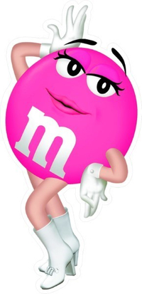 Pink Female M&M Decal / Sticker 40