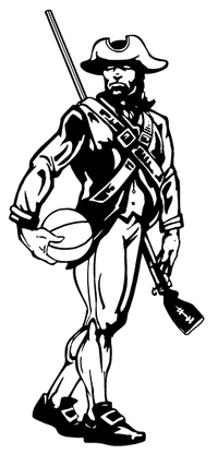 Patriots Basketball Mascot Decal / Sticker