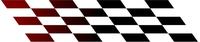 Burgundy Fades to BlackCheckered Flag Decal / Sticker 109