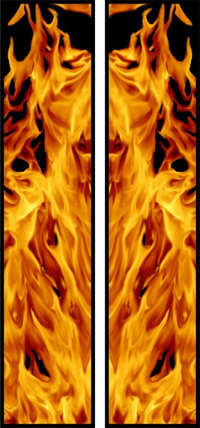 z 10 Inch Dual True Fire Racing Stripe Decal / Sticker 24
