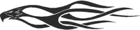 Eagle Flames Decal / Sticker 02