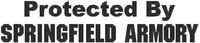 Protected By Springfield Armory Decal / Sticker 07