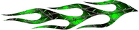 Green Diamond Wire Flames Decal / Sticker 16