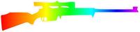 Rainbow Rifle Decal / Sticker 01
