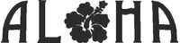 Aloha Flower Decal / Sticker