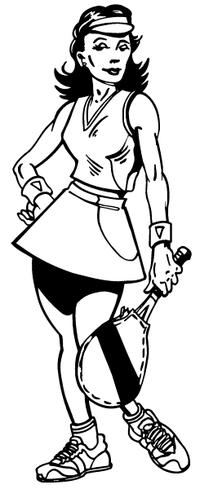 Tennis Girl Decal / Sticker