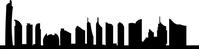 Dubai Skyline Silhouette Decal / Sticker 01