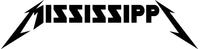 Mississippi Metallica Decal / Sticker 03