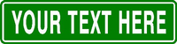 Custom Green Street Sign - DESIGN ONLINE