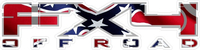 Z Confederate - Rebel Flag FX4 Off-Road Decal / Sticker 04