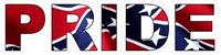 Confederate Pride Decal / Sticker 01