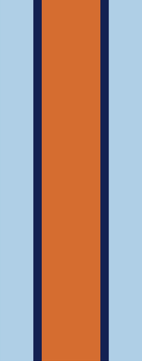 z 12 Inch Gulf Racing Stripe Decal / Sticker 02