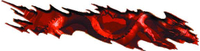 Red Torn Dragon Graphic Decal / Sticker