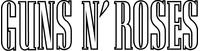 Guns N' Roses Decal / Sticker 04