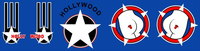 Top Gun Hollywood Helmet Decal / Sticker Set 01