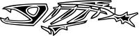 Piranha Decal / Sticker 03