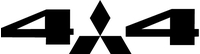 Z Mitsubishi 4x4 Decal / Sticker 51