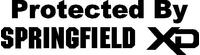 Protected By Springfield XD Decal / Sticker 08