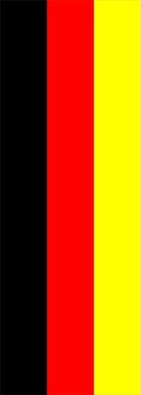 z 12 Inch German Flag Single Racing Stripe Decal / Sticker 01