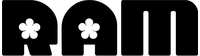 Ram Flower Lettering Decal / Sticker 11