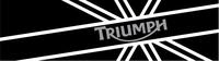 Triumph British Flag Decal / Sticker 58