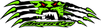Arctic Cat Claws Tearing Decal / Sticker 36