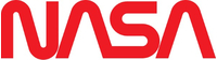 Red NASA lettering Decal / Sticker 06