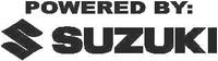 Powered By Suzuki Decal / Sticker