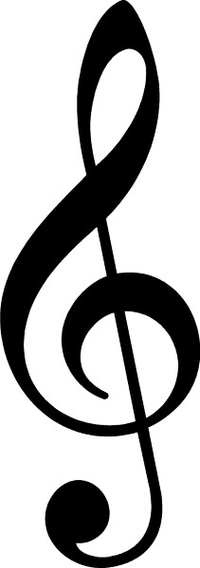 Treble Clef Decal / Sticker 01