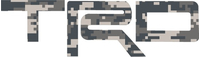 Digital Camo Toyota TRD Decal / Sticker 05