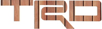 Simulated Wood Toyota TRD Decal / Sticker 08
