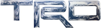 Simulated 3D Chrome Toyota TRD Decal / Sticker